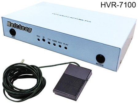 HVR-7100, Can use foot pedal to record